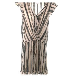 Short Sleeved Tribal Stripped Romper